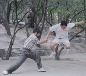 Chen Zhonghua with Ronnie Yee in 2004 in Tao Ranting Park in Beijing